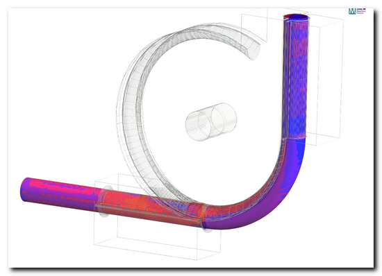 Fig. 1: Tube bending of a roll formed tube in COPRA® FEA RF