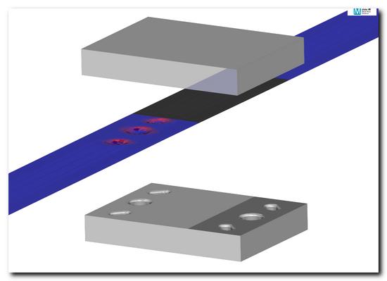Fig. 2: Simulation of the embossing process in COPRA® FEA RF