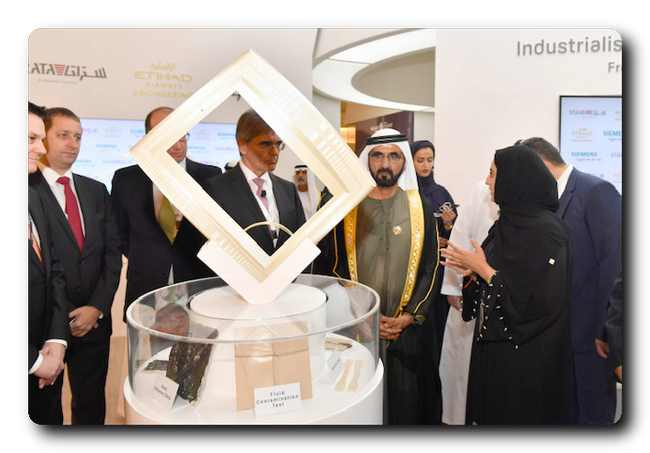 His Highness Mohammed bin Rashid Al Maktoum, Vice President and Prime Minister of the United Arab Emirates, and Ruler of the Emirate of Dubai at the inaugural edition of Global Manufacturing and Industrialisation Summit (GMIS) in 2017