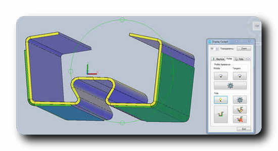 Designers can mark coated areas of a cross section in COPRA® RF 2019.