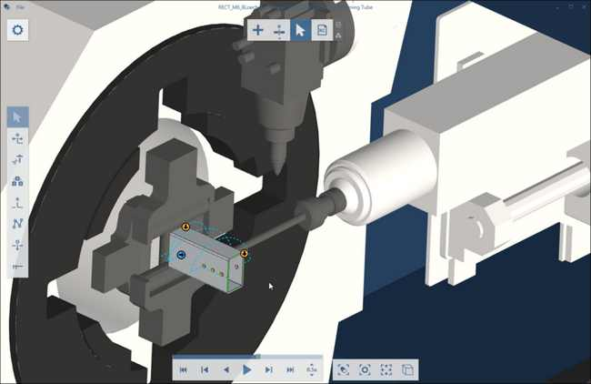 Programming Tube automatically creates the NC program including the necessary tools and the correct machining sequence from the thread parameters.