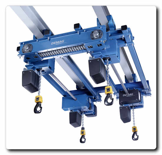 Demag LDC-Q quadro chain hoist design with four load hooks