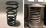 Compression springs made of tool steel for high temperature applications